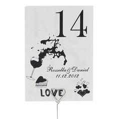 Personalizado Delicado Papel Pérola Número da mesa Cartões (Conjunto de 10)