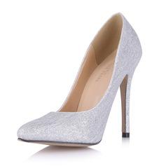 Kvinnor Glittrande Glitter Stilettklack Pumps Stängt Toe skor