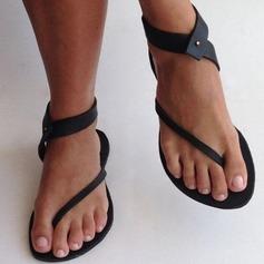 Frauen Kunstleder Flascher Absatz Sandalen Flache Schuhe mit Andere Schuhe