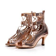 Femmes Similicuir Talons Sandales Latin avec Ouvertes Chaussures de danse