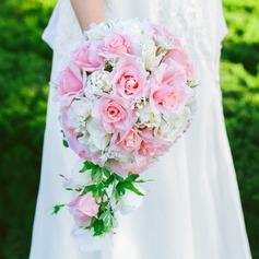 Jolie Cascade Satiné/Soie artificielle Bouquets de mariée