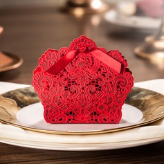 Romantic Moment Favor Boxes With Bow (Set of 12)