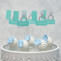 """Gratulerer med dagen/""""Det beste er enda ikke kommet"""" kort papir Kake Topper (Selges i ett stykke)"""