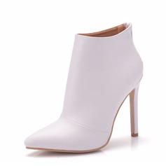 Vrouwen Kunstleer Stiletto Heel Laarzen Pumps
