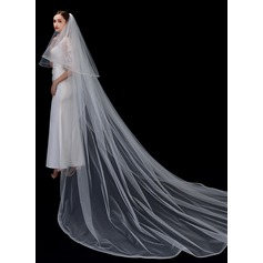 Two-tier Scalloped Edge Cathedral Bridal Veils (006207641)