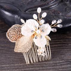 Klassische Art Legierung Kämme und Haarspangen mit Venezianischen Perle
