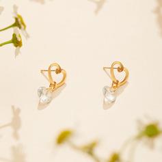 Beautiful Alloy/Rhinestones Ladies' Earrings (011110530)
