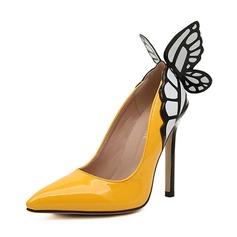 кожа Высокий тонкий каблук На каблуках Закрытый мыс обувь