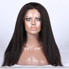 4A non remy Kinky Straight Cheveux humains Perruques en dentelle pleine