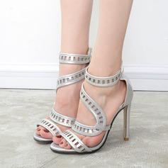 De mujer Cuero Tacón stilettos Sandalias Salón Encaje con Cremallera Agujereado zapatos