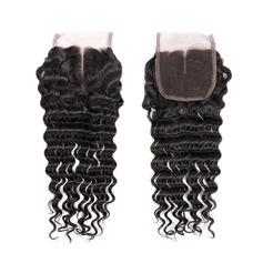 """4""""*4"""" 5A Jungfrau / Remy Tief Menschliches Haar Bedeckung (Einzelstück verkauft) 30g"""