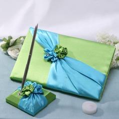 Blau und Grün Gästebuch & Schreibset