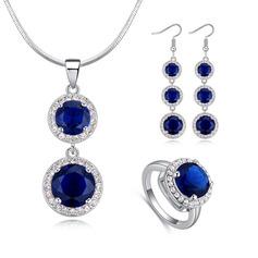 Damer' Snygg Legering/Platina med runda Österrikiska Kristall Smycken Sets Brud/Blomma Tjej