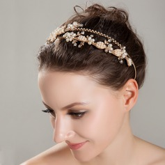 Luxurious Rock Crystal Quartz/Imitation Pearls Tiaras