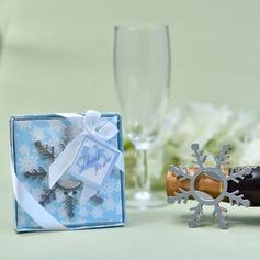 Bon hiver/Créatif En forme de flocon de neige Alliage en zinc Ouvre-bouteilles (Vendu dans une seule pièce)