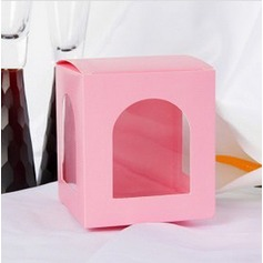 Lovely Cubic Favor Boxes With Window (Set of 12)