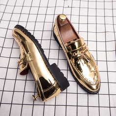 Menn Patentert Lær Tassel Loafer Avslappet Pen sko Loafers til herre