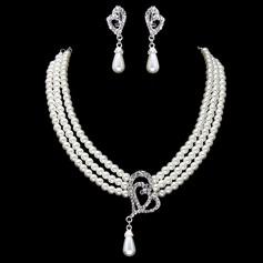 Maravilloso Perla con Rhinestone De mujer Sistemas de la joyería