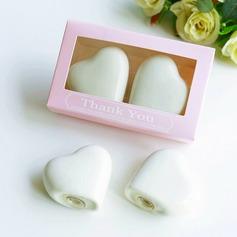 "Heart Shaped/Simple/""Sweet Heart"" Heart Shaped Ceramic Salt & Pepper Shakers"