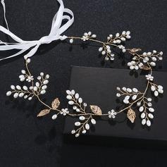 Dame Classic Legering Pandebånd med Venetiansk Perle