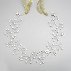 Элегантные горный хрусталь/Перлы ложный ободки (Продается в виде единой детали)