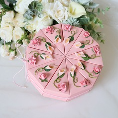 Amour doux Cubique/En forme d'ourson Carte papier Boîtes cadeaux avec Fleur(s)