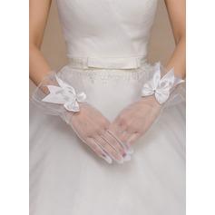 Tyg Wrist Längd Handskar Bridal