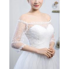 3/4-Length Sleeve Lace Wedding Wrap