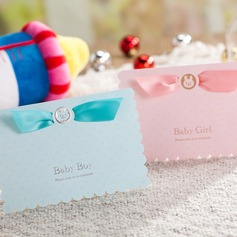 Baby Boy/Girl Top Fold Invitation Cards With Ribbons (Set of 50) (114072041)