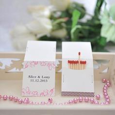 Personalizado Projeto do coração papel cartão duro Caixas de Fósforos Personalizadas (Conjunto de 50)