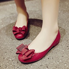 Women's Real Leather Flat Heel Flats Pumps With Bowknot shoes