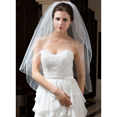 Two-tier Waltz Bridal Veils With Pencil Edge