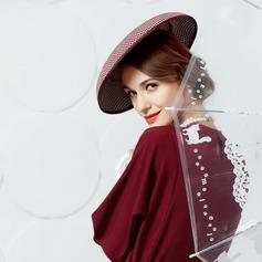 polyester med Siden blomma Kastare / Cloche Hat
