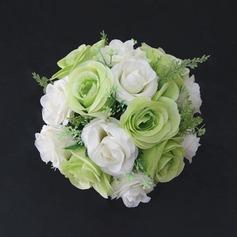 Anhänger Rund Satin Brautjungfer Blumensträuße
