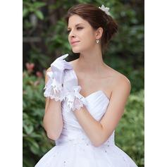 Elastisk Satin Wrist Längd Handskar Bridal