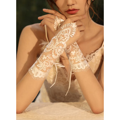 Tulle/Lace Wrist Length Bridal Gloves With Sequins