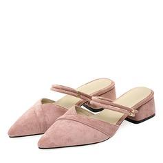 Mulheres Camurça Salto robusto Bombas Chinelos com Outros sapatos