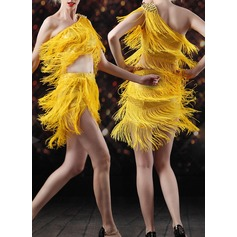Women's Dancewear Spandex Latin Dance Tops Skirts