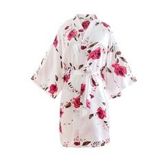 Braut Brautjungfern Blumenroben Kimono-Roben mit - Kurz