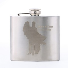 Personalized Happy Couple Stainless Steel Flask