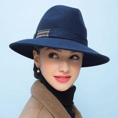 Senhoras Moda Lã De disquetes Chapéu