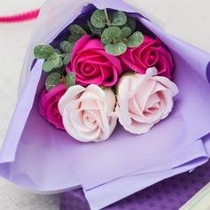Forma libre Jabón de la flor Ramos de novia - Ramos de novia