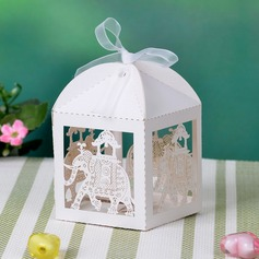 Lovely Elephant Cuboid Favor Boxes With Ribbons