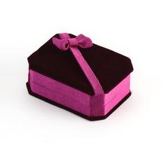 Clássico Veludo Caixa de Jóias
