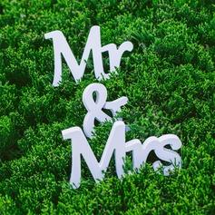"""PVC """"Mr. & Mrs."""" Decorações de casamento"""