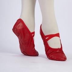 Kvinner Lær Ballett Dansesko