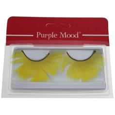 1 Pair Fancy Yellow Feather False Eyelashes CFE414