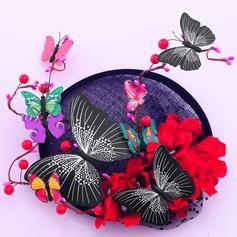 Sonar Naisten Kaunis Batisti jossa Silkki kukka/jäljitelmä Butterfly Koristeet/Kentucky Derbyn hatut