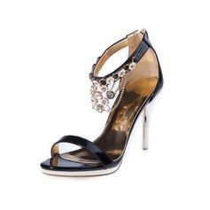 Kvinnor Konstläder Stilettklack Sandaler med Strass skor