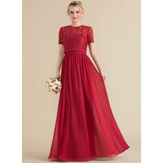 A-Line/Princess Sweetheart Floor-Length Chiffon Bridesmaid Dress